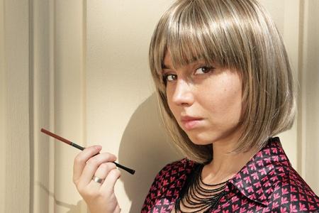 deplorable: Pretty girl Stock Photo