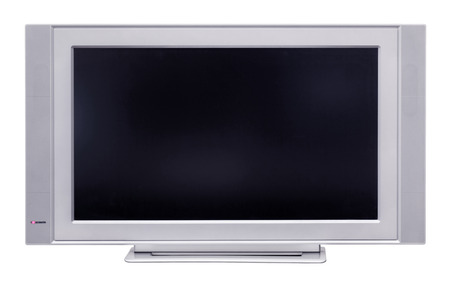 Le téléviseur à cristaux liquides, isolé sur un fond blanc Banque d'images