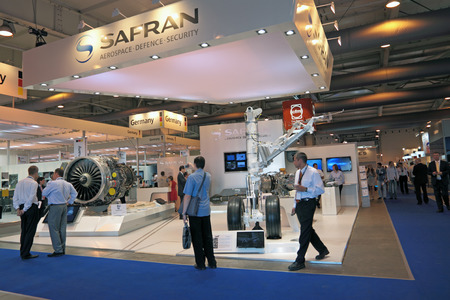 safran: MOSCOW, RUSSIA - AUG 17:  The stand of the company Safran at the International Aviation and Space salon MAKS. Aug, 17, 2011 at Zhukovsky, Russia Editorial