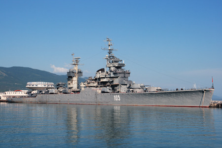 mikhail: Cruiser - museum Mikhail Kutuzov in the city of Novorossisk, Krasnodar territory, Russia