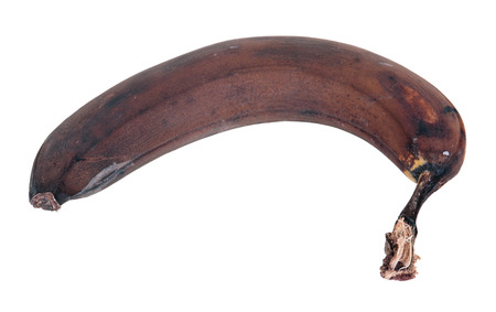 stale: Stale overripe banana, it is isolated on a white background