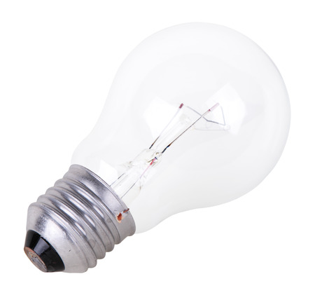 incandescence: Incandescence bulb, isolated on a white background Stock Photo