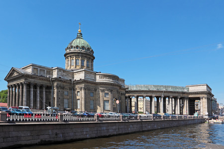The urban landscape with a view of the Kazan Cathedral, St. Petersburg, Russia  photo