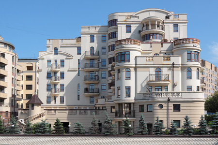 lowrise: Low-rise elite housing, urban landscape, Moscow, Russia Stock Photo