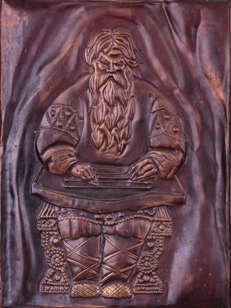 coining: The copper picture made of embossing