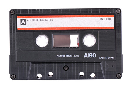 The recorder cassette, isolated on a white background photo