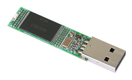 micro drive: Opened USB Flash drive, a kind from within, isolated on a white background
