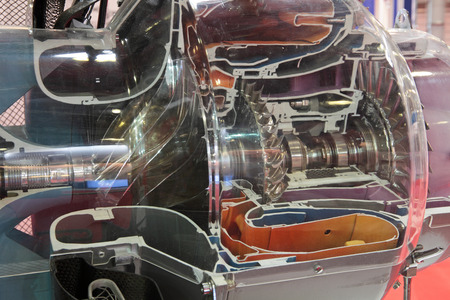 gas turbine: Model of gas turbine engine helicopters in the section