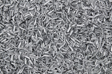 chock: The background of the chock metal aluminum chips