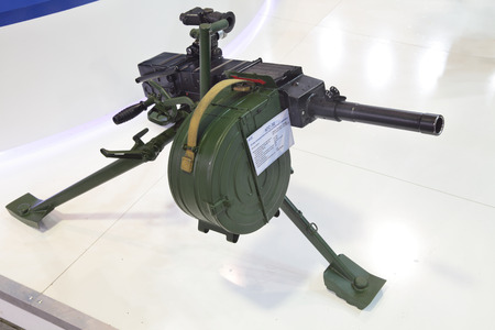 armaments: ZHUKOVSKY, RUSSIA - JUN 29: The international salon of arms and military technology Engineering technologies 2012 on Jun 29, 2012 in Zhukovsky. The 30-mm automatic grenade launcher complex Editorial