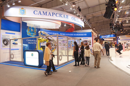 armaments: ZHUKOVSKY, RUSSIA - JUN 29: The international salon of arms and military technology Engineering technologies 2012 on Jun 29, 2012 in Zhukovsky. Visitors see the exhibition
