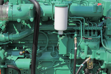 The new diesel engine, closeup
