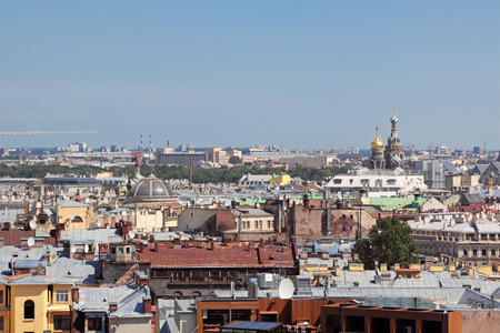 View from height on an old part of the city of St.-Petersburg, Russia photo