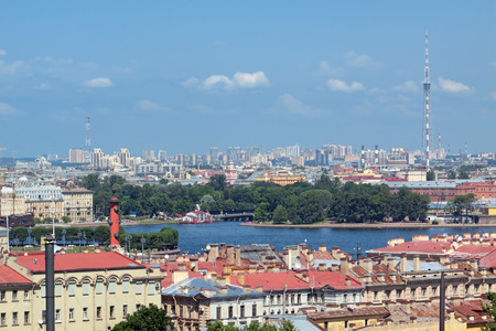 View of the river Neva of St. Petersburg with the colonnade of St. Isaacs SWAT photo