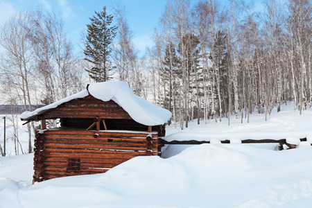 watermill: The old wooden watermill, Siberia, Russia