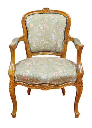 antique chair: Antique chair, isolated on white background Stock Photo