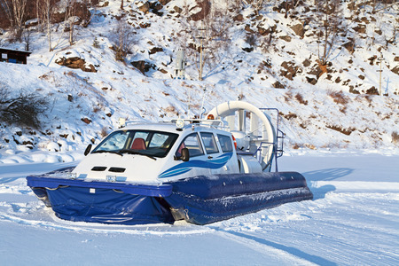 hovercraft: Hovercraft transport on the frozen lake Baikal, Siberia, Russia