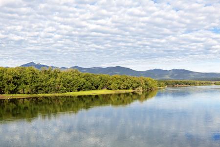 kamchatka: Avacha River, landscape, Far east, Russia, Kamchatka Stock Photo