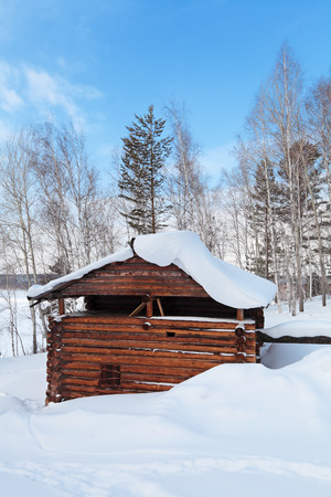 The old wooden watermill, Siberia, Russia photo