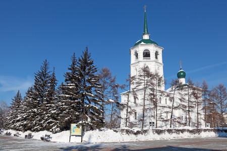 spasskaya: Russia, Siberia, Irkutsk city, the Spasskaya Church (Savior Not Made By Hands Of Christ) , 1706 year of Foundation