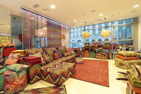 The interior of the furniture store, nobody