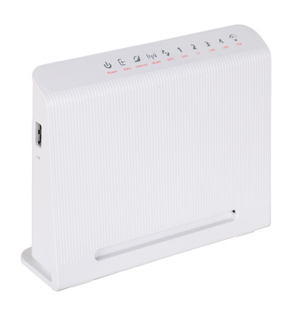 adsl: ADSL modem, isolated on a white background