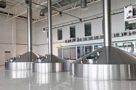 Brewing production - mash vats, the interior of the brewery, nobody photo