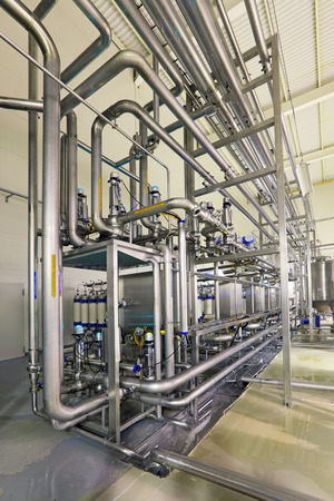 Brewing production - department filtering, the interior of the brewery, nobody photo