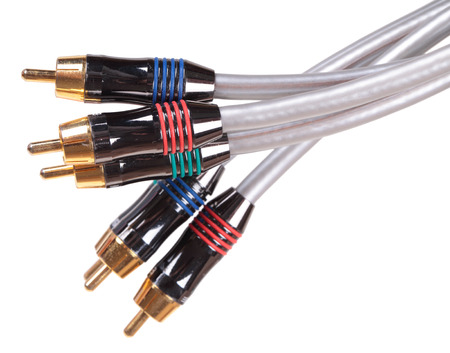 RCA connectors, isolated on a white background photo