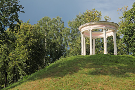 rotunda: Old rotunda on the hill in the summer the park