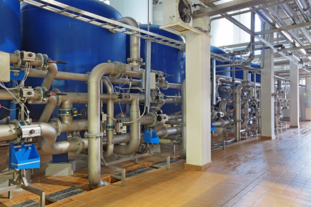 양조 생산 - 물 준비를위한 부서, 필터 스톡 콘텐츠