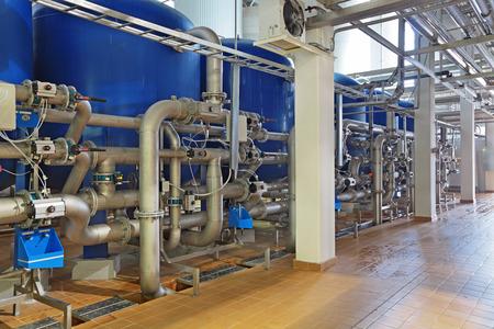 production de brassage - département pour la préparation de l'eau, filtres Banque d'images
