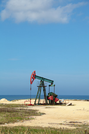 industrially: Oil pump on the shores of the Atlantic ocean, the Republic of Cuba