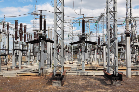 electrify: Electric power substation, high-voltage support, conductors and insulators