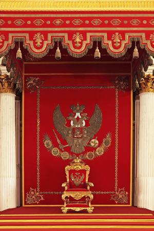 trono: Trono Foto de archivo