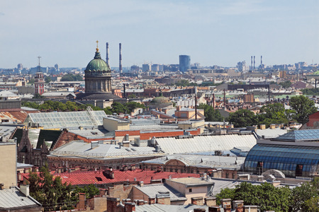 View of the old part of the city of St. Petersburg with the colonnade of St. Isaacs SWAT photo