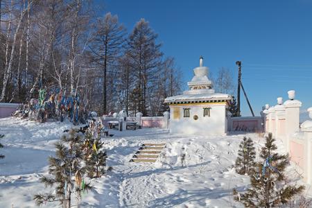buryatia: Buddhist stupa in Siberia on the border of Irkutsk region and Republic of Buryatia, Russia