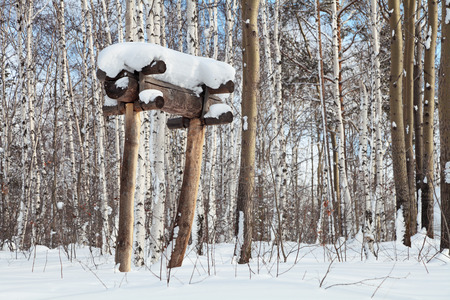 cultic: The Evenki the burial of the late 19th century, Siberia, Russia Stock Photo