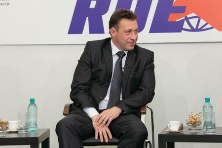 igor: NIZHNY TAGIL, RUSSIA- AUG 24: Igor Kholmanskikh - Presidential Plenipotentiary Envoy to the Urals Federal District at RUSSIAN DEFENCE EXPO 2012 on August, 24, 2012 at Nizhny Tagil, Russia Editorial