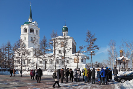 spasskaya: Russia, Siberia, Irkutsk city, the Spasskaya Church  Savior Not Made By Hands Of Christ  , 1706 year of Foundation