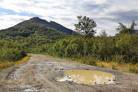kamchatka: Estremo Oriente, Russia, Kamchatka, strada paesaggio