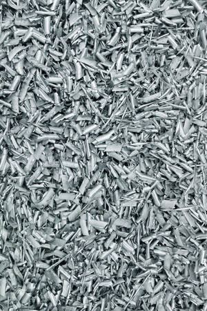 The background of the chock metal aluminum chips