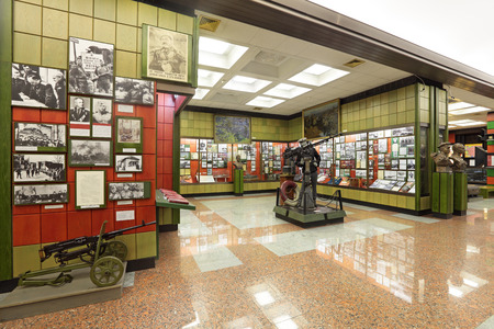 troops: MOSCOW, RUSSIA - JUN 22, 2012: Central Museum of the border troops, the interior and exhibits, nobody