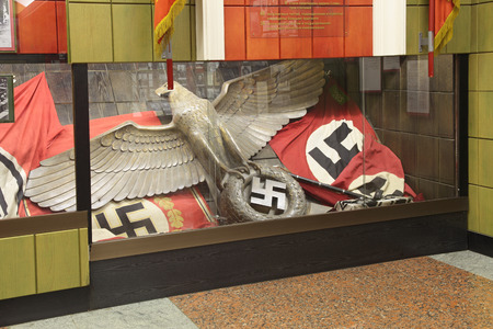 nazism: MOSCOW, RUSSIA - JUN 22, 2012: Central Museum of the border troops, the interior and exhibits, nobody