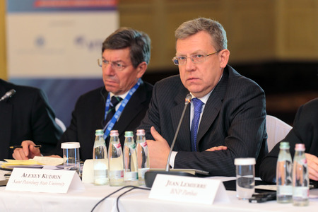 ceos: MOSCOW, RUSSIA - FEB 15: Alexei Kudrin - ex Minister of Finance of the Russian Federation at G20 Finance Ministers and Central Bank Governors Deputies Meeting on February, 15, 2013 in Ritz-Carlton Hotel, Moscow, Russia