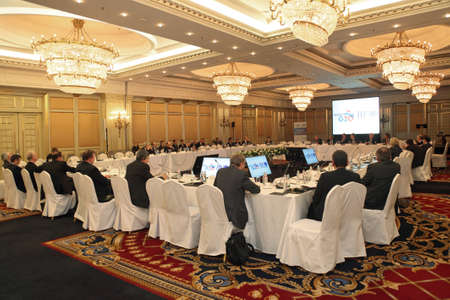 ceos: MOSCOW, RUSSIA - FEB 15: G20 Finance Ministers and Central Bank Governors Deputies Meeting on February, 15, 2013 in Ritz-Carlton Hotel, Moscow, Russia