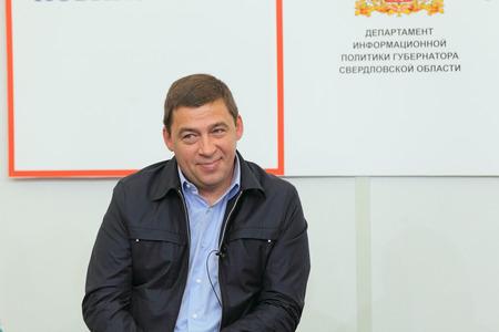 statesman: NIZHNY TAGIL, RUSSIA- AUG 24: Kuyvashev Evgeny Vladimirovich - Russian statesman, Governor of Sverdlovsk region at RUSSIAN DEFENCE EXPO 2012 on August, 24, 2012 at Nizhny Tagil, Russia Editorial