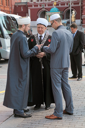 albir: MOSCOW - MAY 8: Albir Krganov which the Chairman of the spiritual administration of the Muslims of Moscow arrived at the ceremony of laying flowers to the Tomb of the Unknown Soldier in Alexander Garden. Festive events dedicated to the 67th Anniversary of Editorial