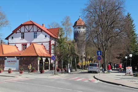 サンクトペテルブルク, ロシア連邦 - 5 月 6 日: 都市景観とタワーのスパ観です町 (1946 年 - ドイツの Rauschen) までサンクトペテルブルクの主なランドマーク 2013 年 5 月 6 日にモスクワ、カリーニング ラード州、ロシアで 報道画像