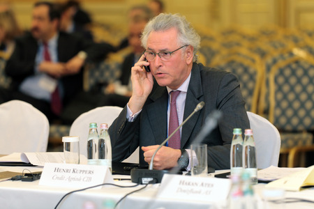 ceos: MOSCOW, RUSSIA - FEB 15: Henri Kuppers - Head of Credit Agricole CIB at G20 Finance Ministers and Central Bank Governors Deputies Meeting on February, 15, 2013 in Ritz-Carlton Hotel, Moscow, Russia Editorial